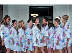 cheap bridesmaid gifts luxury bathrobes silk by ForBride on Etsy