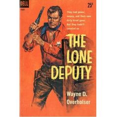 The Lone Deputy, 1959, vintage paperback #BOOK