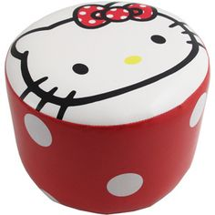 Hello Kitty Ottoman! If I have a daughter she best believe She's going to love hello kitty!