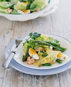 Salmon & Asparagus Salad with Fat Free French Dressing