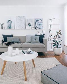 Colour Schemes For Living Room Grey Decor And Blue Sofa