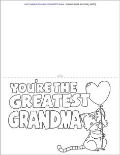A Perfect Mothers Day Card For Grandma