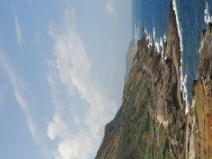 Cliffs along the east coast of Oahu, Hawaii