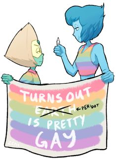 Peridot and Lapis Lazulie Gay Proud, Steven Universe, SU