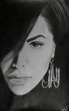 Aaliyah - drawn for my 'lil bliss' who is crazy about Aaliyah