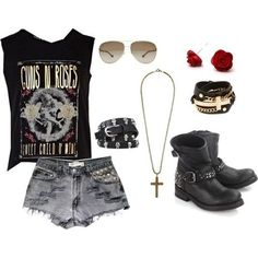 80's rock women's fashion - Google Search Cute Teen Outfits, Punk Outfits, Outfits For Teens, Cool Outfits, 80s Fashion, Fashion Outfits, Womens Fashion, Metal Fashion, Rocker Style