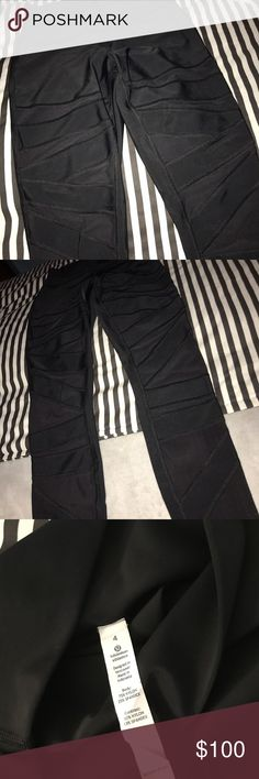 Lulu Lemon Pants Mesh cut outs full length has been worn in good condition lululemon athletica Pants