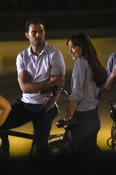 Jamie Dornan and Dakota Johnson Ride Bikes in Paris While Shooting Final Scenes for 'Fifty Shades of Grey' Sequels