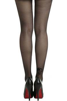 ROMWE | Cute Cat Pattern Black Tights, The Latest Street Fashion