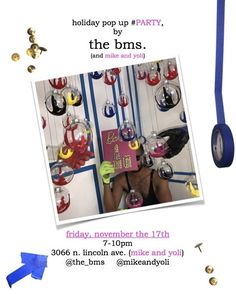 We're having a #party and you're invited. It will be held on November 17 from 7-10 pm. We are having a #holidaypopup #shopping #extravaganza featuring a #localartist with amazing #skills Join is for #boozeandbooks Buy a #handcrafted #tacked #Book and get it signed by @the_bms himself. These #gifts will prove to be the most #unique gifts ever received. . #thebms #mikeandyoli #christmasiscoming #corporategifts #uniquegifts #realtor #designer #chicagoartist #supportthearts #localrealtors…
