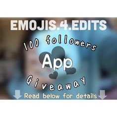 - hello! we got 100 followers last week! thank you guys so much for all of the love and support! let's get on with the giveaway now! STEP 1- make sure you are following @emojis.4.edits  STEP 2- make an ORIGINAL emoji edit and post it on your Instagram  STEP 3-  before posting it use the hashtag #emojis4edits100giveaway and TAG US STEP 4-  you can make up to 5 edits per account!  STEP 5-  have fun and be creative with your edits - - - dm if you have question! i tagged some people who might…