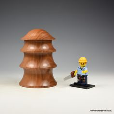 Pear wood stacking box. Made by George Watkins