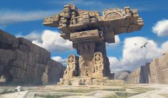 Ruins, Xin Ran Liu on ArtStation at https://www.artstation.com/artwork/ruins-254a25b9-19b6-43ec-a7a7-0b4f466e9454