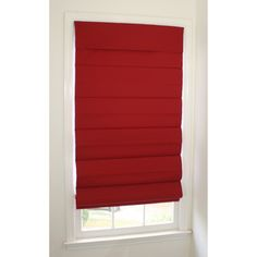Room-darkening Cordless Red Roman Window Shade | Overstock.com Shopping - Great Deals on Blinds & Shades