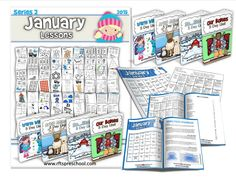 January Lesson Plans Series 2 [Four 5-day Units] - $14.98 : RFTS Preschool, Preschool Program, Lessons, Educational Printables, Print2Learn, and PreK Classroom Materials