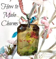 How to make Charms   Pluckingdaisies.com #Sizzix #TimHoltz #RangerInk
