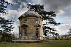 Croome Park - The Rotunda    Croome is an 18th century landscape park, garden and mansion house in South Worcestershire, landscaped by Capability Brown. This is one of the park buildings, recently restored by the National Trust. Designed by Brown and built 1754-57.