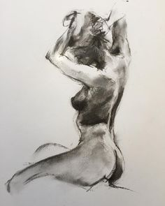 Florent Leclercq #nude #figurative #charcoal #drawing