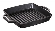 Buy STAUB Cast Iron Double Handle Grill Pan, Black, from our Grill Pans range at John Lewis & Partners. Bbq Grill, Grill Pan, Barbecue, Grill Grates, Steak Recipes, Grilling Recipes, Steaks, Outdoor Grill Station, Leave Pattern