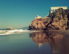 Image of The Cliff House in San Francisco from Ocean Beach