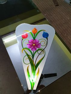 Window Glass Design, Frosted Glass Design, Etched Glass Door, Glass Etching, Glass Painting Designs, Paint Designs, Staircase Railing Design, Beautiful Flower Drawings, Main Door Design