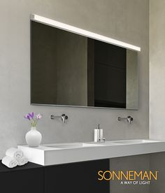 Sonneman Lighting Vanity Polished Chrome 48-inch Slim LED Bath Bar ...