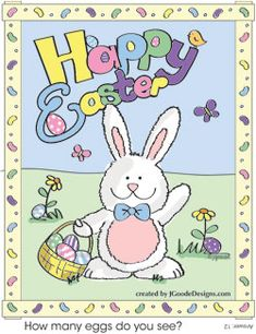 Free printable Easter coloring page by Jen Goode http://www.projectsforpreschoolers.com/easter-bunny-coloring-and-activity-page/