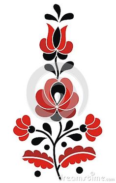 Hungarian Embroidery Patterns hungarian folk: Little Hungarian Folk Motif - Hungarian Tattoo, Hungarian Embroidery, Folk Embroidery, Learn Embroidery, Chain Stitch Embroidery, Embroidery Stitches, Embroidery Patterns, Bordado Popular, Stitch Head