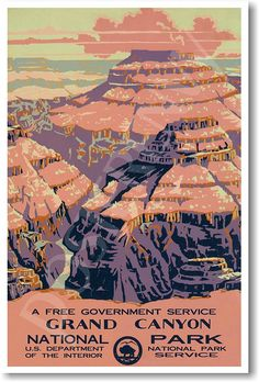 Amazon.com : Grand Canyon - National Park - NEW World Travel Poster : Wall Maps : Office Products