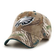 Philadelphia Eagles 47 Brand Realtree Camo Frost MVP Adjustable Velcro Hat  Cap Philadelphia Eagles Hats 8c5c302e3