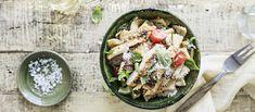 Pasta Salad, Cobb Salad, Acai Bowl, Breakfast, Ethnic Recipes, Food, Easy Dinners, Crab Pasta Salad, Acai Berry Bowl