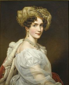Princess Augusta of Bavaria, wife of Eugene de Beauharnais, since 1817 Duchess of Leuchtenberg (with her husband becoming Duke).  She had seven children, of whom four married extremely well.