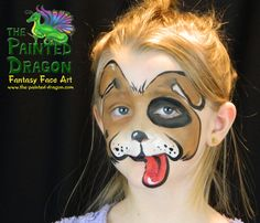 Photo Gallery - The Painted Dragon -- Face painting for the Quad Cities and surronding areas. Dog Face Paints, Dragon Face Painting, Quad Cities, Animal Faces, Animal Design, Animal Paintings, Face Art, Dogs And Puppies, Photo Galleries