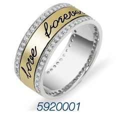 Outside Ring Engraving available on most Dora Wedding bands!