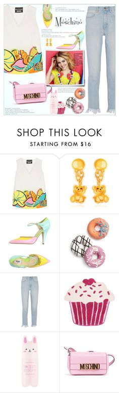 """""""Moschino"""" by alves-nogueira ❤ liked on Polyvore featuring Boutique Moschino, Moschino, Celebrate Shop, M.i.h Jeans, Thro, Tony Moly and Summer"""