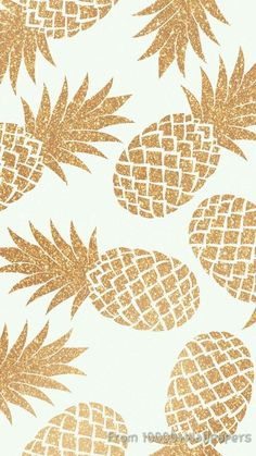 Image de wallpaper, gold, and pineapple