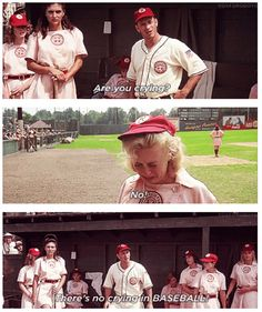 """Are you crying?"" ~ A League of Their Own (1992) ~ Movie Quotes ~ #moviequotes #leagueoftheirown #90smovies"