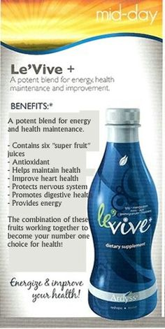 Get yourself  healthy  from  the  inside out.    Order  your Le'Vive products today.   Ardyss.net/eholloway6912