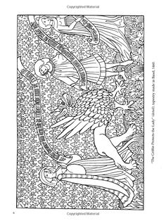 Medieval Tapestries Coloring Book Dover Fashion Marty Noble 9780486436869