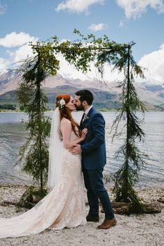majestic Lake Wanaka wedding with foliage arbour Luxe Wedding, Diy Wedding, Dream Wedding, Wedding Ideas, Wedding Stuff, Lake Wanaka, Wedding Toasts, Wedding Pictures, Wedding Planner
