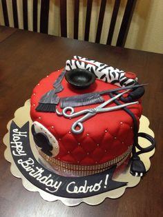 Hair Stylist Cake.