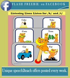 We offer unique deals to our facebook followers every week. Click on th link below to find out more https://www.facebook.com/pages/speech2teachcom/200969046595597?ref=hl