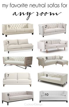 My favorite neutral ivory sofas to start a room with. They are so versatile and a great starting point for any room.
