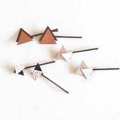 DIY Wooden Triangle Hair Pins