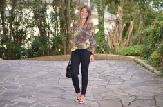 Moda corporativa - look do dia - look de trabalho - look executiva - work outfit - office outfit - look verão - casual friday - black jeans - animal print