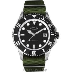Shop for Rotary Men's 'Classic' Military Green Canvas Watch. Get free delivery On EVERYTHING* Overstock - Your Online Watches Store! Amazing Watches, Cool Watches, Watches For Men, Military Green, Army Green, Rotary Watches, Rolex Watches, Laid Back Style, My Style