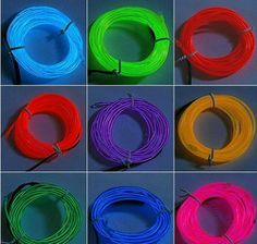 wire in diameter generation core Electroluminescent Wire, Blacklight Party, Indoor String Lights, Cutting Tables, Stage Design, Neon Lighting, Glow, Arts And Crafts, Orange