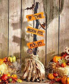 Accent your home in the spirit of the season with this Halloween Witch's Broom. It features natural elements such as grapevine, burlap, and raffia alongside spooky accents and a clever phrase. Once tr