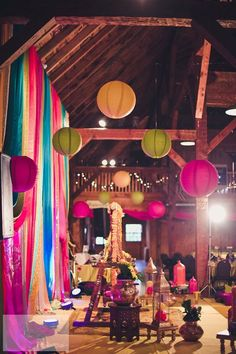 Paper Lanterns for a Rustic Toronto Mehndi Party by Lemon Truffle Designs / / http://www.himisspuff.com/100-charming-paper-lantern-wedding-ideas/4/