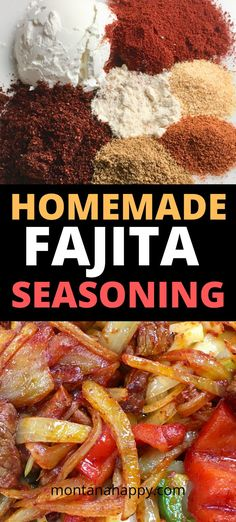 Homemade Fajita Seasoning Mix Recipe - why buy store bought when you probably already have all the spices at home? Steak Fajitas, Beef Fajita Recipe, Steak Fajita Marinade, Mexican Food Recipes, Crockpot Recipes, Cooking Recipes, Beef Steak, Roast Recipes, Ground Beef Recipes